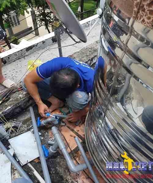 Lắp bồn nước inox quận Tân Bình